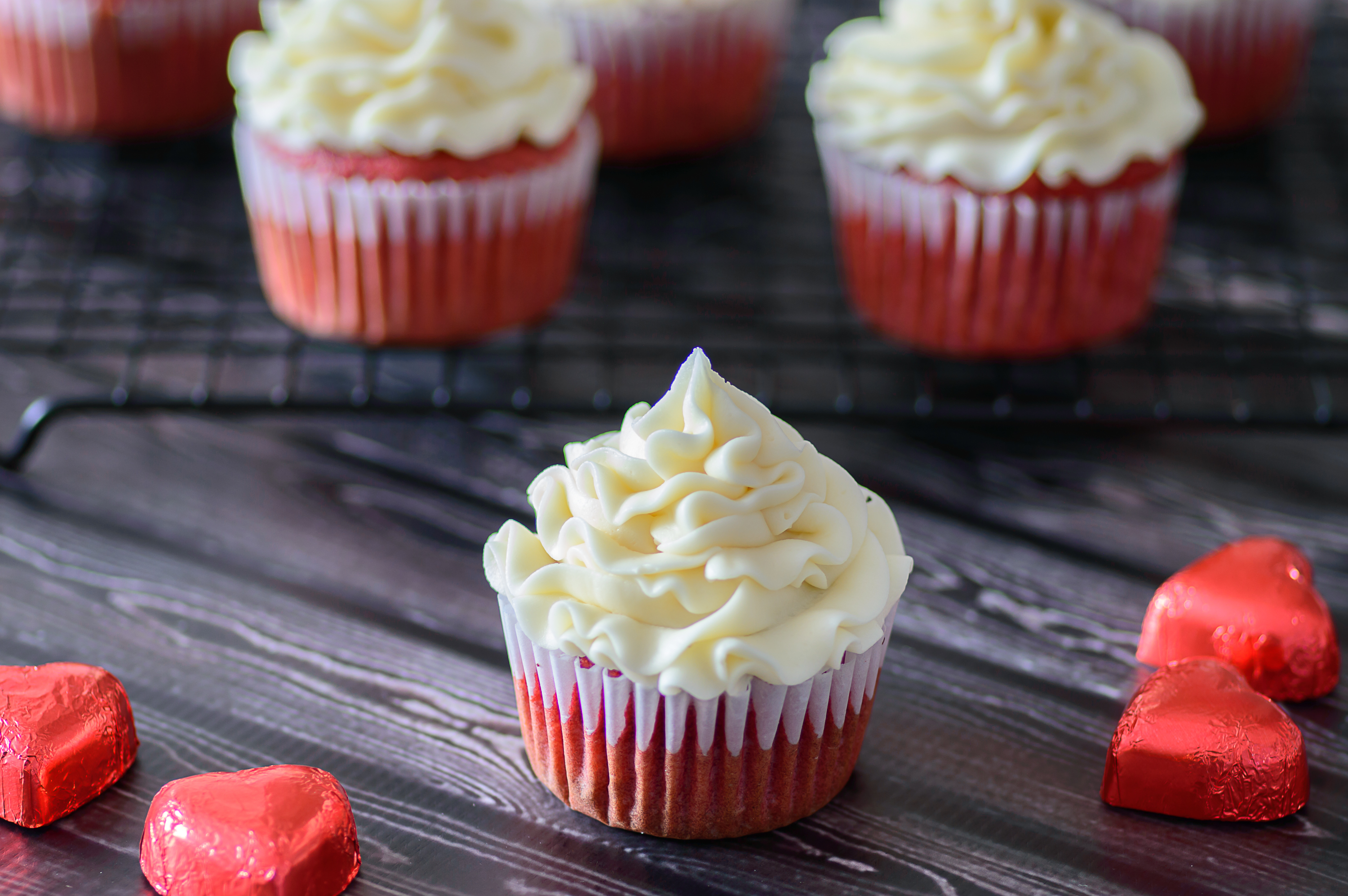 Gluten Free Red Velvet Cupcakes. I'm in love with these gorgeous cupcakes! Gluten free and can even be turned into a paleo recipe with just a few simple tweaks. What a great Valentine's Day dessert.