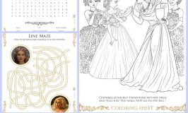 Cinderella Coloring Pages and Activity Sheets