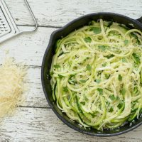 One Skillet Garlic Parmesan Zoodles