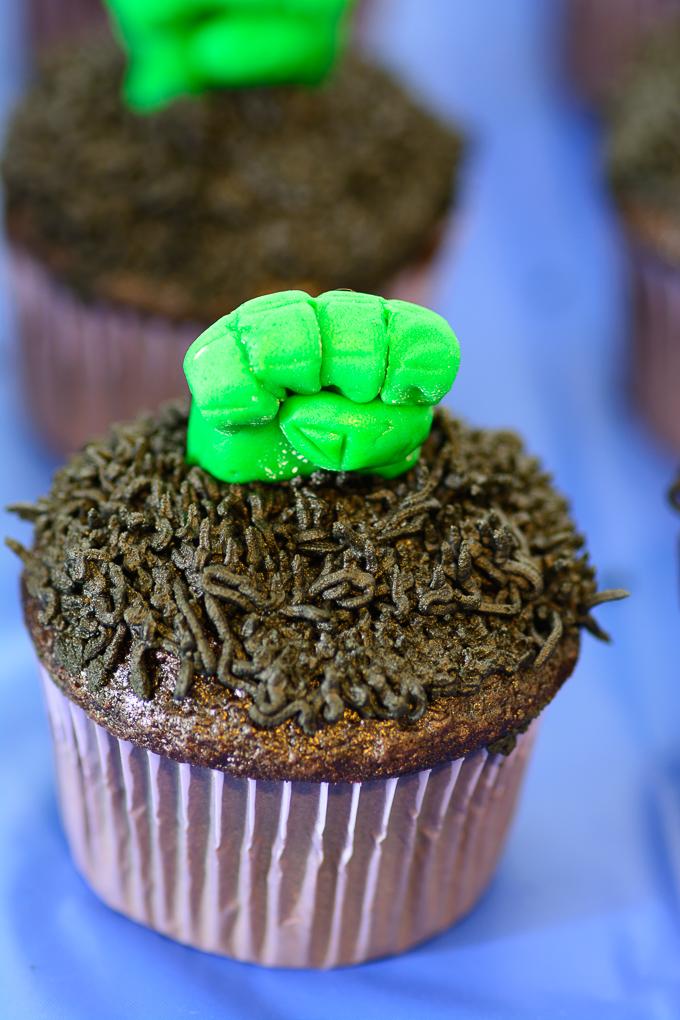 Hulk Fist Cupcakes