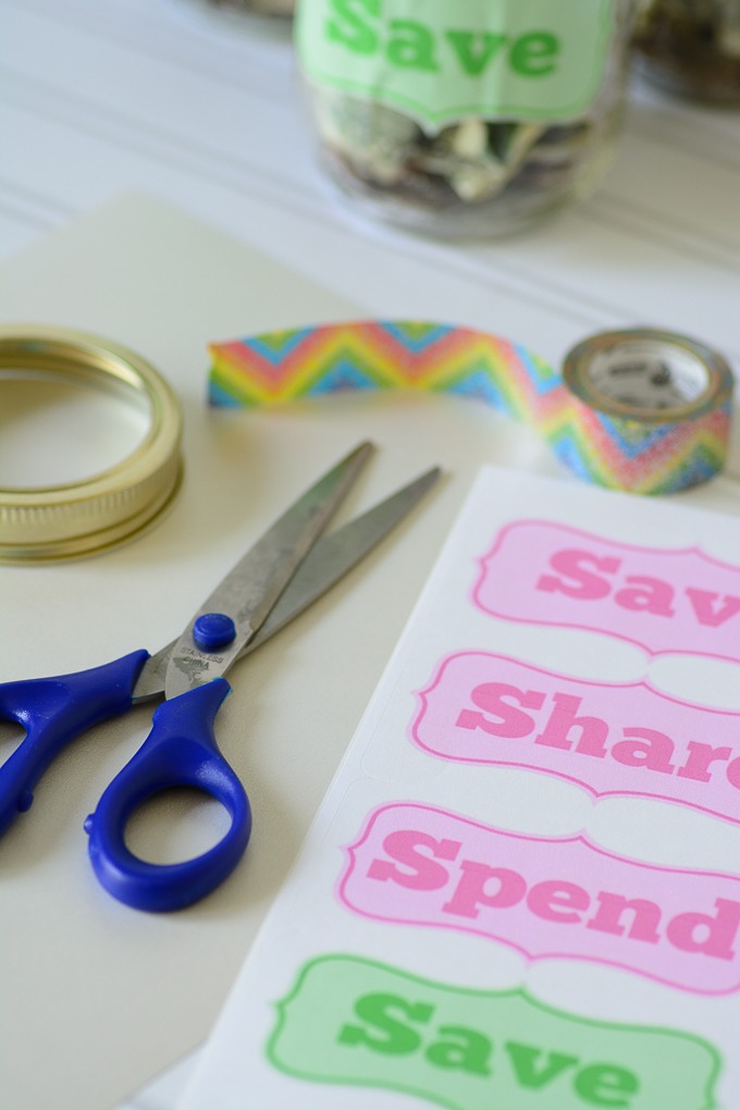 Save, Spend, Share Jars teach children financial responsibility.