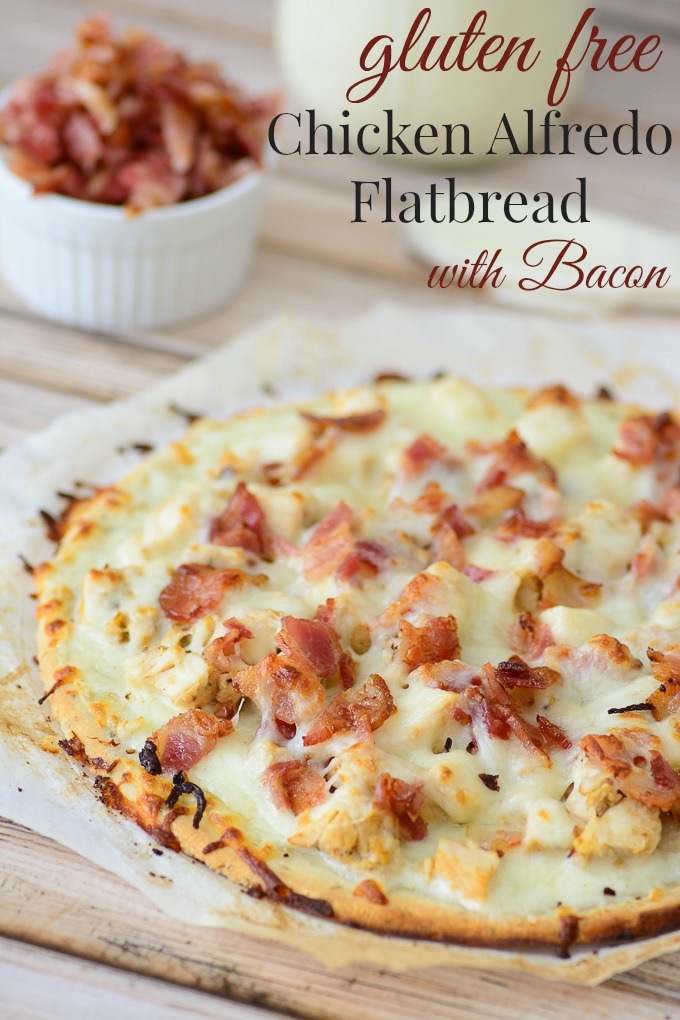 Gluten Free Chicken Alfredo Flatbread with Bacon | Homemade Healthy Pizza Recipes | Homemade Recipes | flourless pizza crust recipes