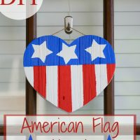 DIY American Flag Heart Tutorial. Easy to follow tutorial for a cute 4th of July decoration!