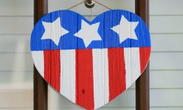DIY American Flag Wooden Heart Tutorial