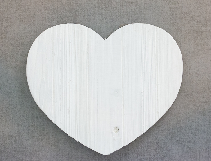 DIY American Flag Wooden Heart-4105