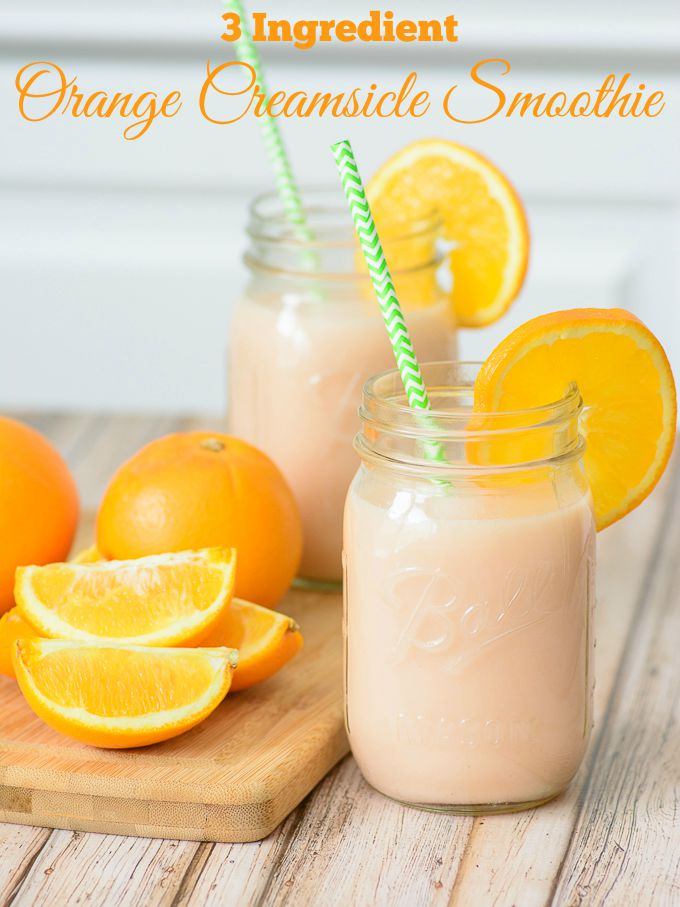 3 Ingredient Orange Creamsicle Smoothie. Packed full of good for you and whole ingredients, this smoothie is the perfect way to kickstart your morning!