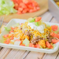 Easy Freeze Ahead Taco Casserole. Perfect dinner to make and freeze in batches so you always have an easy dinner option in the freezer!