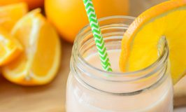 3 Ingredient Healthy Orange Creamsicle Smoothie *Plus* 5 Ways to Sneak Exercise into Your Busy Day
