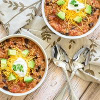 Vegetarian Slow Cooker Quinoa Chili