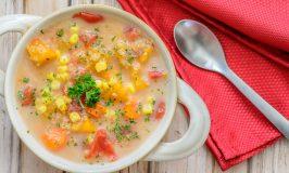 Slow Cooker Veggie Quinoa Chowder -Gluten Free!