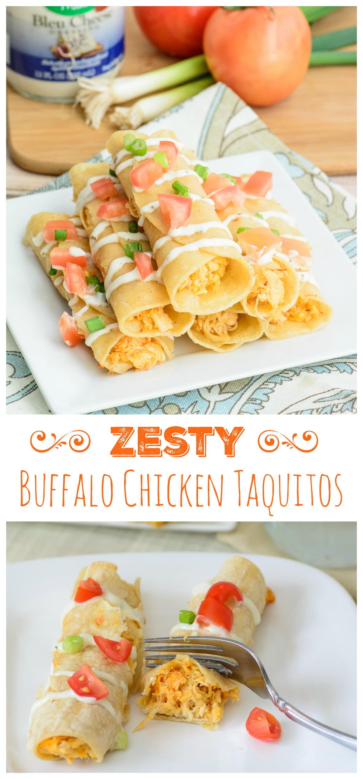 Kick up your appetizer game with these zesty Buffalo Chicken Taquitos. A perfect snack for the big game or just to satisfy a random buffalo chicken craving. Either way, you are going to love this buffalo chicken recipe!