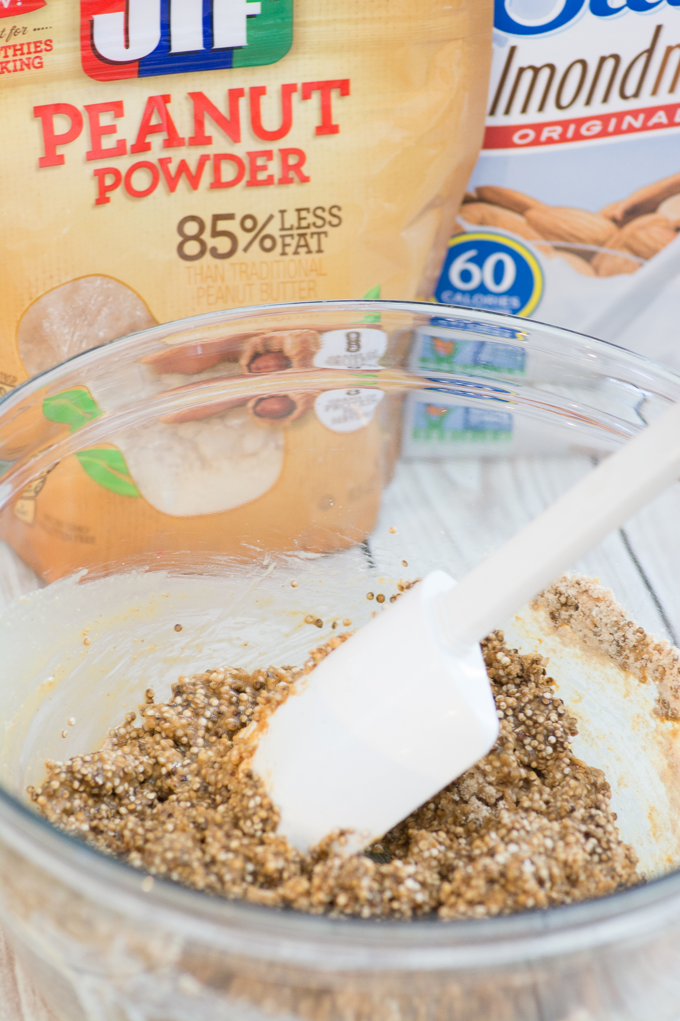 Tackle your New Year's resolutions with a little help from this protein packed recipe that easily stores in your fridge for a convenient, energy boosting snack!