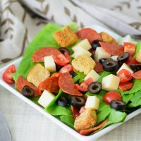 Looking for a clean eating substitute for your favorite pizza? This Pepperoni Pizza Salad is a great way to get all the flavors of pizza but still stick to your healthy diet. One of my favorite healthy recipes!