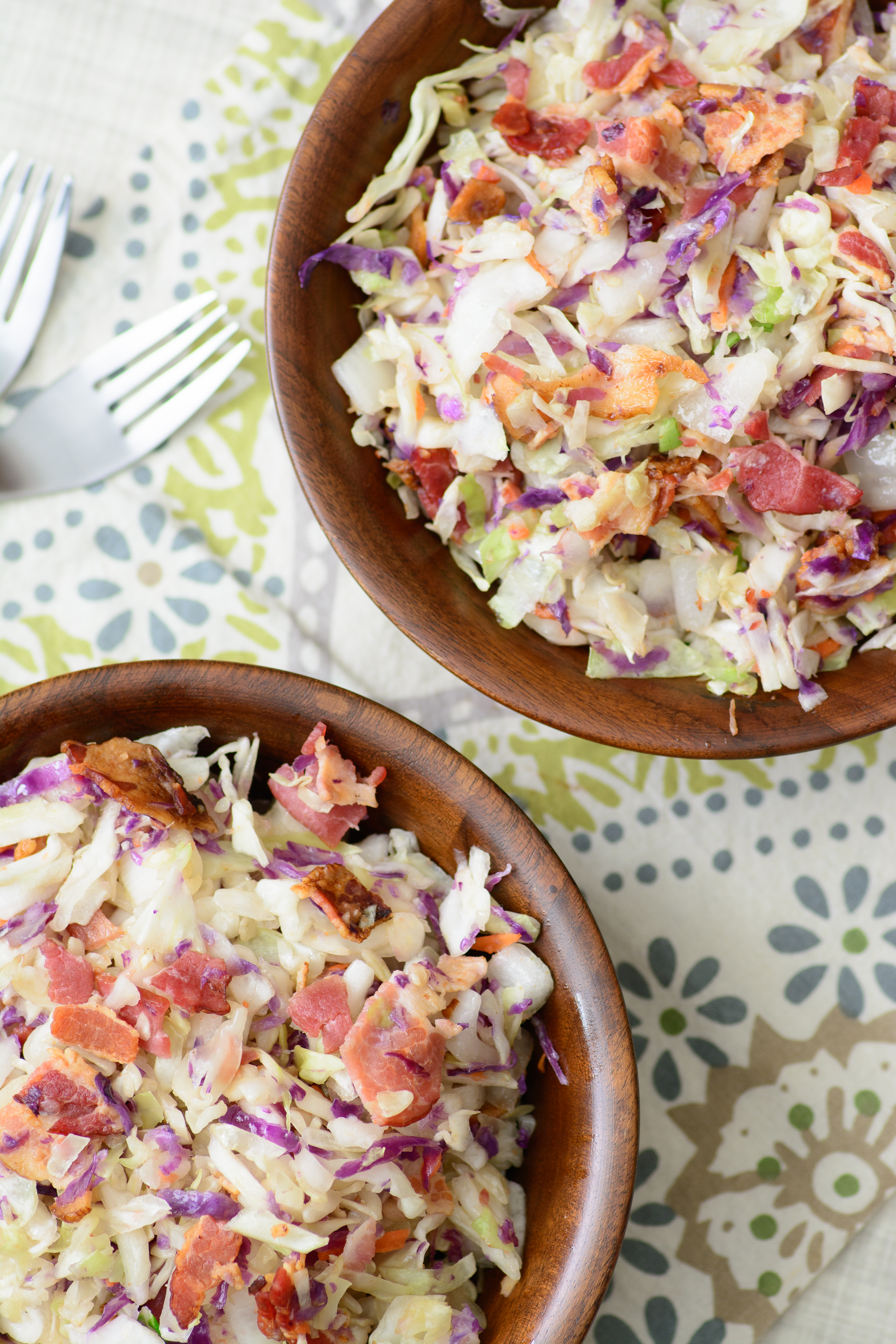 Bacon Coleslaw. This delicious bacon coleslaw recipe is a quick and easy side dish that will perfectly accompany just about any dish. It's always a hit at picnics and BBQ's. Plus you can never go wrong with bacon. Yum!