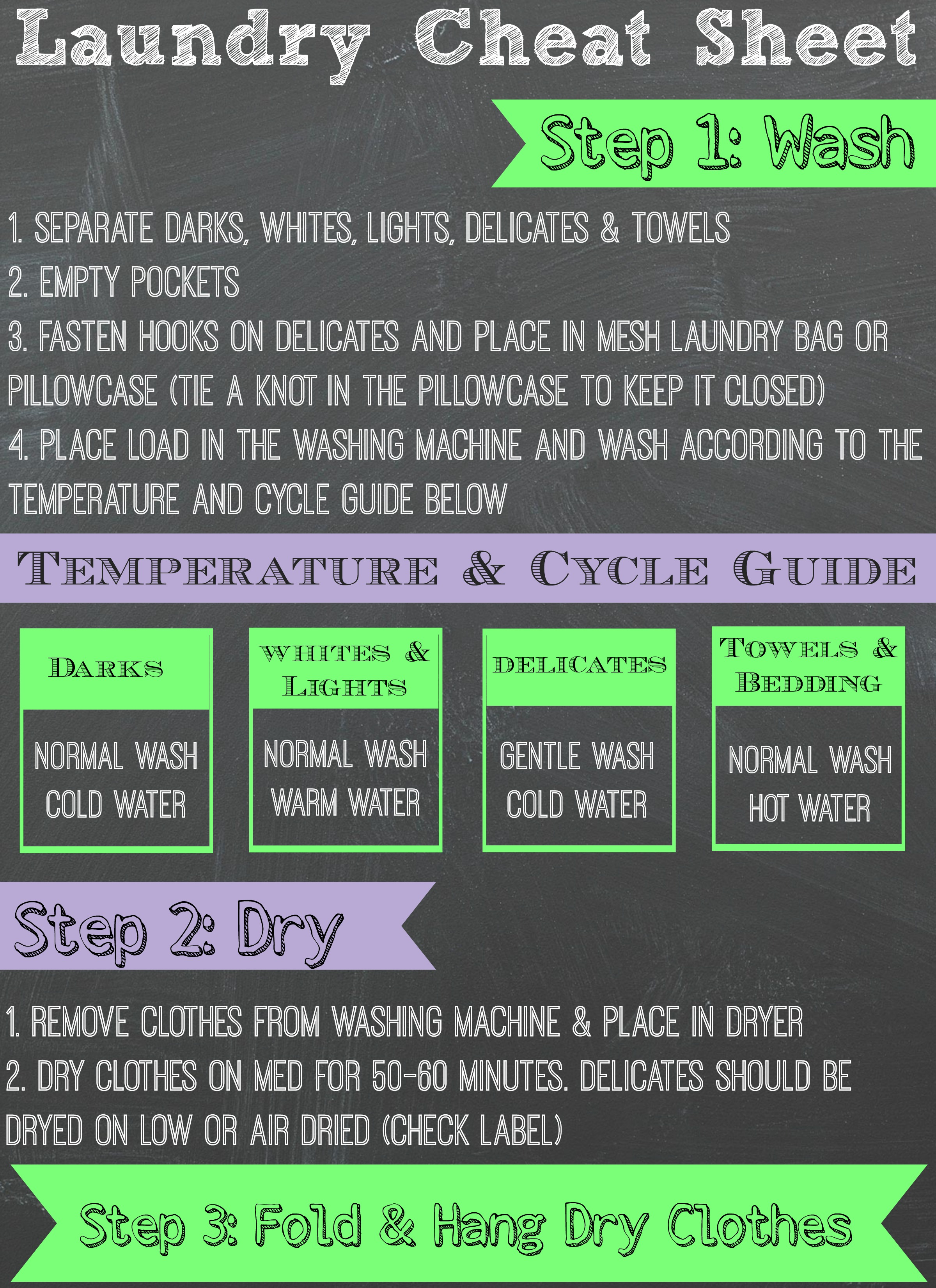 free laundry cheat sheet perfect for teaching kids how to do