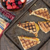 Grilled Waffle Breakfast Sandwiches. Now you can have grilled cheese for breakfast!