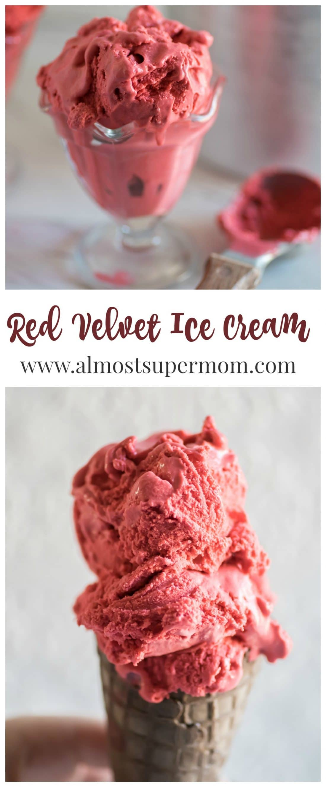 Red Velvet Ice Cream. Creamy, dreamy and delicious. This ice cream recipe is the perfect indulgent treat.