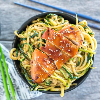 Teriyaki Chicken Zoodle Bowls