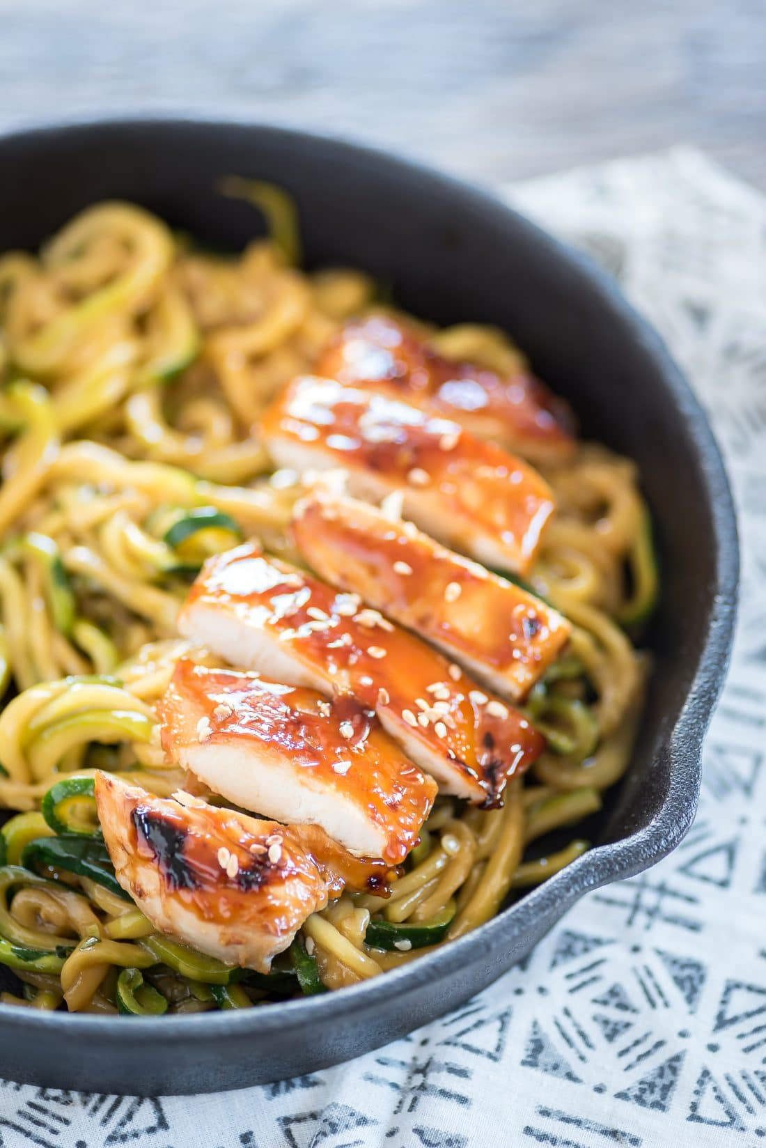 Teriyaki Chicken Zoodle Bowl