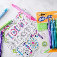 Back to School With New BIC® Gel-ocity® Quick Dry Gel Pens!